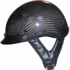 DOT CARBON LOOK SHORTY MOTORCYCLE HELMET