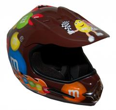 M&M Licensed Brown MotoX Motorcycle Helmet - RX20