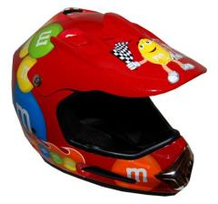 M&M Licensed Red MotoX Motorcycle Helmet - RX20