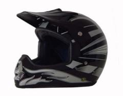 DOT ATV Dirt Bike MX Black Graphic Motorcycle Helmet