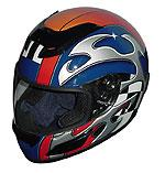 Race Full Face Motorcycle Helmets - Blue Blade - RACEBL