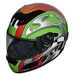 Race Full Face Motorcycle Helmets - Green Blade - RACEG