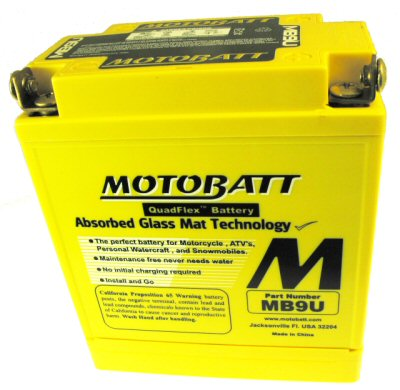 MotoBatt Quadflex Battery 12v 9ah