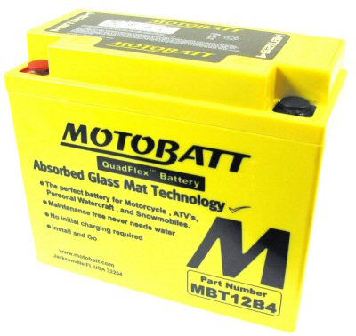 MotoBatt Quadflex Battery 12v 12ah