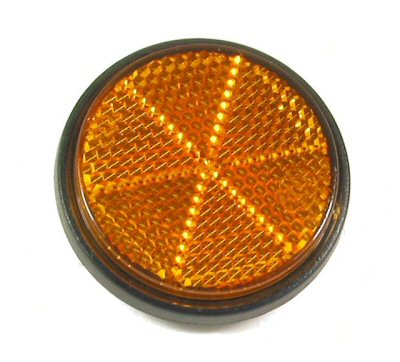 Scooter/Moped Reflector, Amber