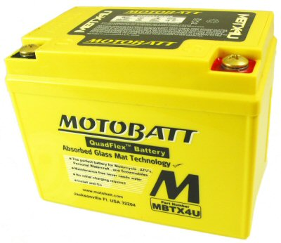 MotoBatt Quadflex Battery 12v 4ah