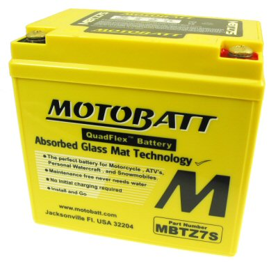 MotoBatt Quadflex Battery 12v 7ah