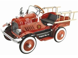 Deluxe Fire Truck Pedal Car Red