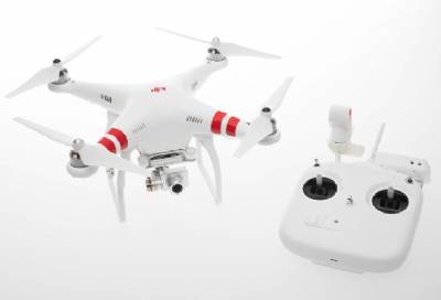DJI PHANTOM 2 VISION+ QUADCOPTER WITH FPV HD VIDEO CAMERA AND 3-AXIS GIMBAL W/EXTRA BATTERY