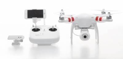DJI PHANTOM 2 VISION QUADCOPTER WITH INTEGRATED FPV CAMCORDER PLUS FREE BATTERY