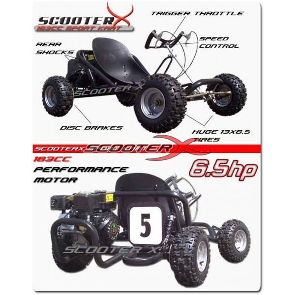 Neoscooters: ScooterX Sport kart 6.5hp Off Road Go Kart, Go Karts ...